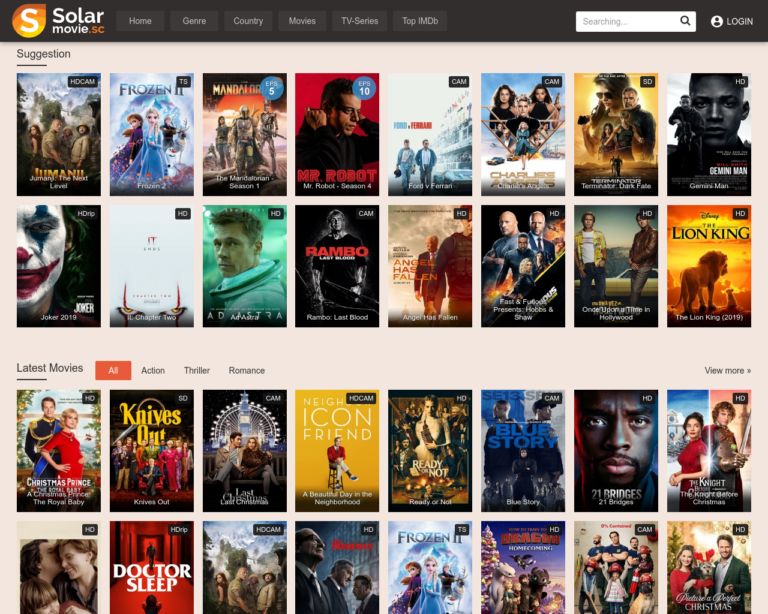 Top 20 Movie Sites Like Solarmovie